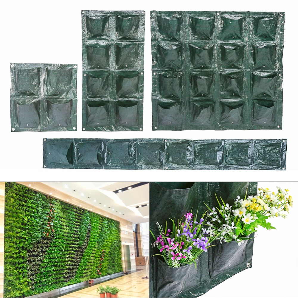 4 8 16 Pockets Vertical Garden Plant Growing Container Bag