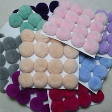 20 pcs/lot DIY 8cm Real Rex Rabbit Fur Ball pompom for keychains bags hats and scarf  pom pom Wholesale Colors Support Mixed