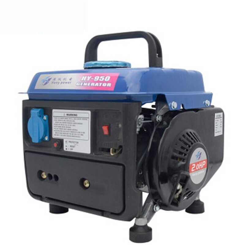 Monophasé 220 V AC sortie ménage Portable silencieux mini générateur à essence silencieux Camping onduleur groupe électrogène 650 W Y