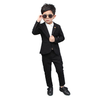 Children's Formal School Suit Set Spring England Flower Boys Wedding Dress Costume Kids Party Prom Piano Host Gentleman Clothes