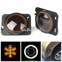 ФОТО 0.8w fog lamp  front fender turn signal light with drl for jeep wrangler jk 2007-2015