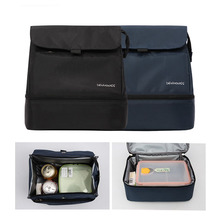 Adult Soft Picnic bags Lunch Box Insulated Lunch Bag Large Soft Cooler Tote Bag for Men, Women, Double Deck Cooler B119