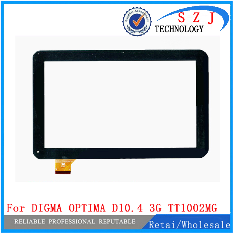 New 10.1'' inch Touch screen Digitizer For DIGMA OPTIMA D10.4 3G TT1002MG Tablet panel Glass Sensor replacement Free Shipping 42mm parnis black dial multifunction sapphire glass black leather strap 26 jewels miyota 9100 automatic mens watch