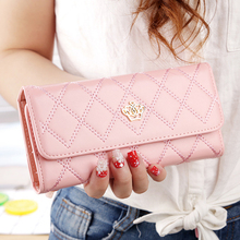 Fashion Leather Wallet Women Long Slim Lady Casual Day Clutch Card Holder Phone Pocket Wallet Female Purse