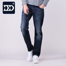 DD Famous Jeans Factory Men Thick Denim Straight Jeans Middle Waist Casual Long Trousers Mens Fashion Denim Pants For Spring Sum