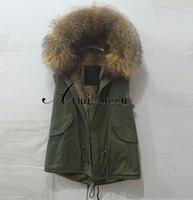 Italy Name Brand Vest Designer Fashion Mr Mrs Jackets Real Fur Coat
