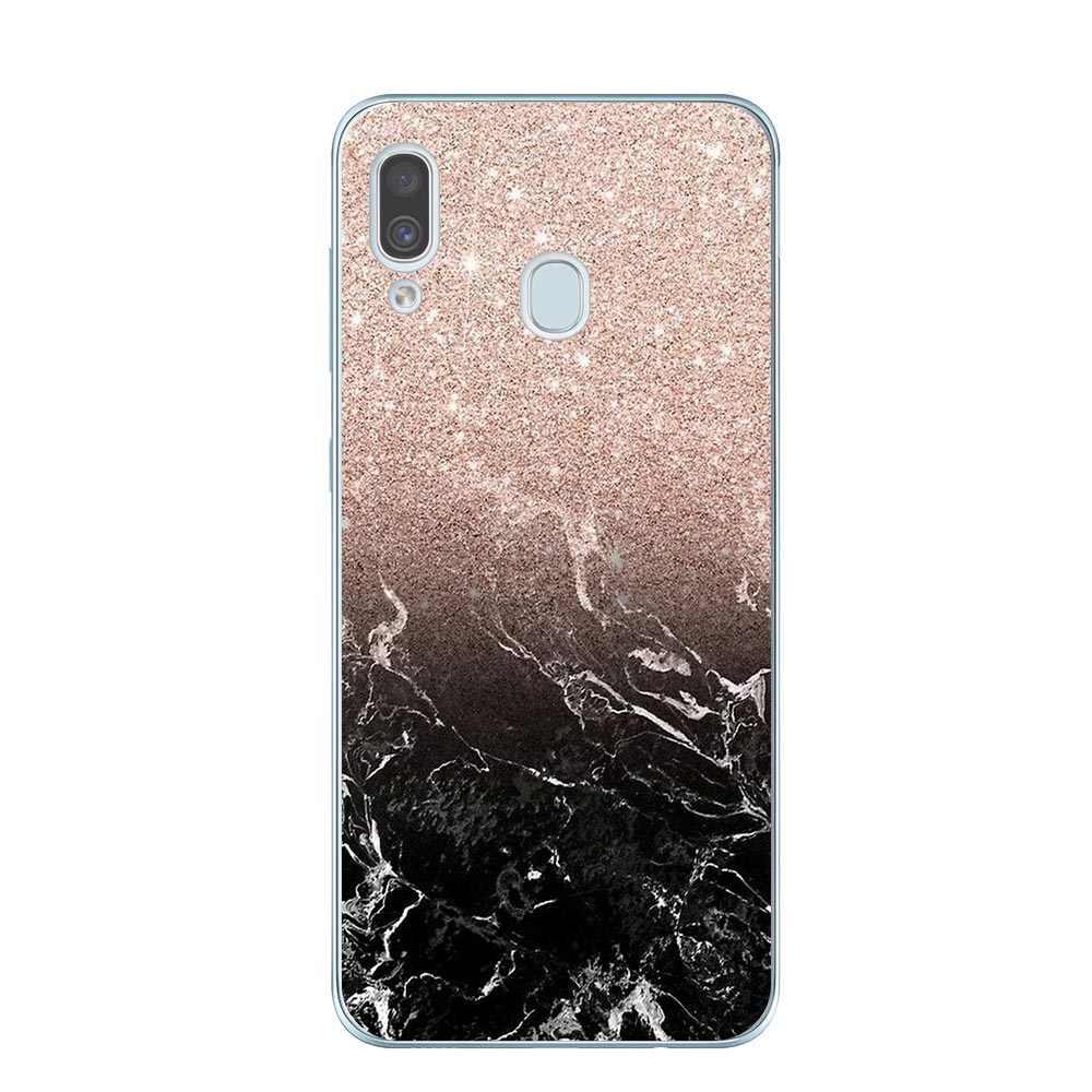 Vàng Hồng Lấp Lánh Hình In Độc Đáo Ốp Lưng Điện Thoại sFor Samsung A10 A30 A40 A50 A60 A70 A80 A6 A8 Plus A7 a9 2018 Mềm Mại Ốp lưng silicon