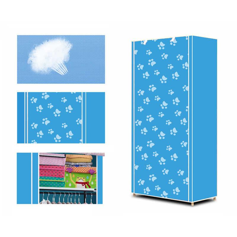Нетканый Одноместный складной шкаф для студенческого общежития шкаф для хранения дома пыленепроницаемый шкаф маленький шкаф