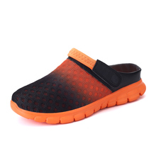 Hot Sale Women Mesh Insole Mules & Clogs Beach Sandal Slippers Breathable Woman EVA Sole Clog Clogs Black Kkaki Orange Blue Col