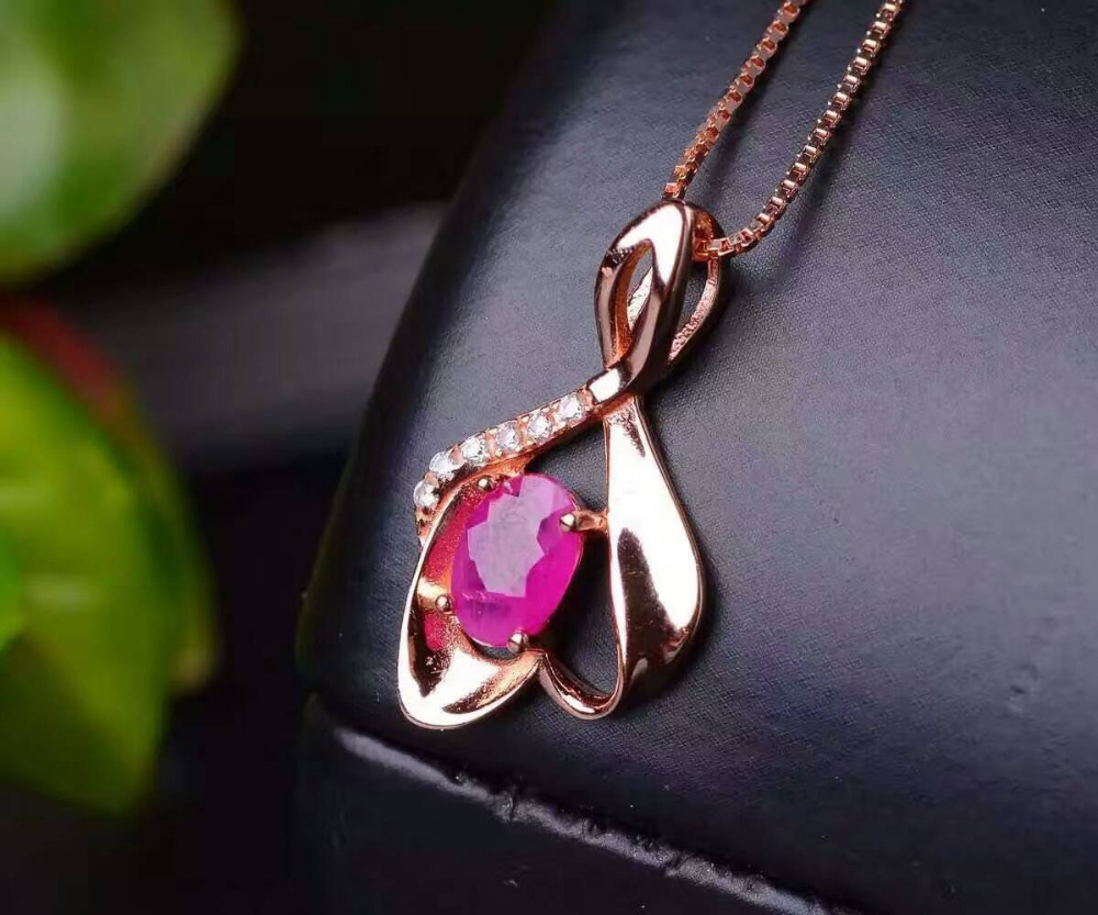 Natural ruby pendants 925 sterling silver natural red gem natural ruby pendants 925 sterling silver natural red gem irregular leaves pendants simple fashion fine jewelry gift for women in pendants from jewelry mozeypictures