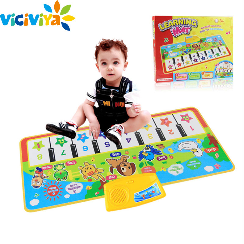 73x28cm Baby Piano Keyboard Music Play Mats Newborn Baby Kid Children Crawling Musical Carpet Mat Blanket Rug Toy Birthday Gift