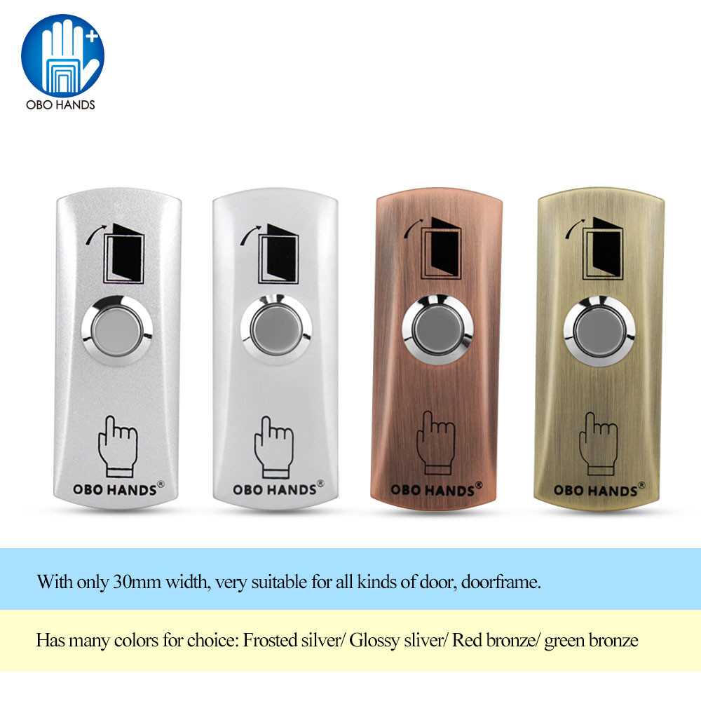 OBO HANDS metal waterproof door switch door exit button for access control system is equipped with four colors used to open door cross switch hka1 41y04 remote control main switch four to self lock four open 30mm