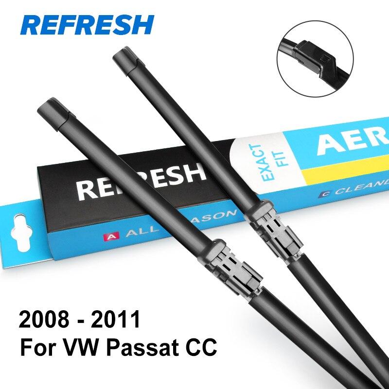 REFRESH Щетки стеклоочистителя для Volkswagen VW Passat CC Fit Push Button Arms 2008 2009 2010 2011 2012 2013 - Цвет: 2008 - 2011