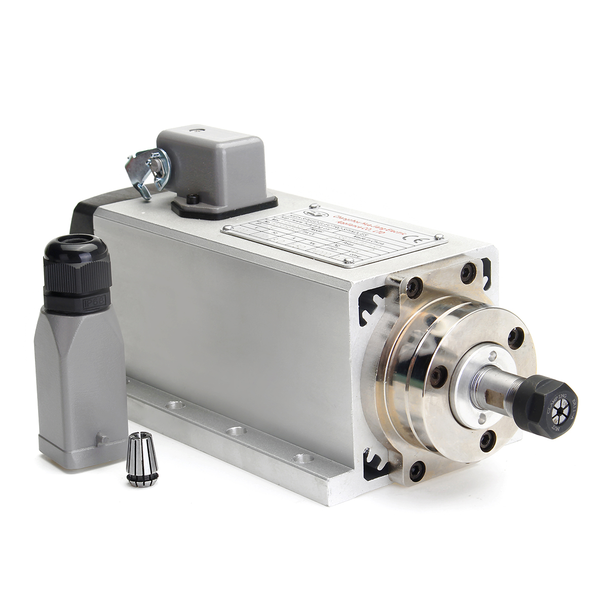 1500W 1.5KW Air Cooled CNC Spindle Motor Woodworking Engraving Machine Principal Axis DIY Power Tool Parts