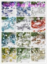 1440pcs /bag SS10 Many Colors Nail Art Crystals Glass Stones Non HotFix FlatBack 3D Rhinestone