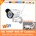 960 p cámara bullet ip wifi 1.3mp webcam motion detección impermeable al aire libre mini blanco de seguridad de vigilancia cctv freeshipping