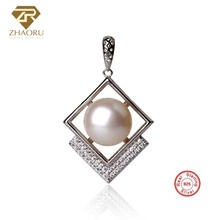 ZHAORU 925 Sterling Silver Pendant Natual Freshwater Pearl Pendant for Necklace 925 Silver Pendant Fashion Jewelry Women Gift цена
