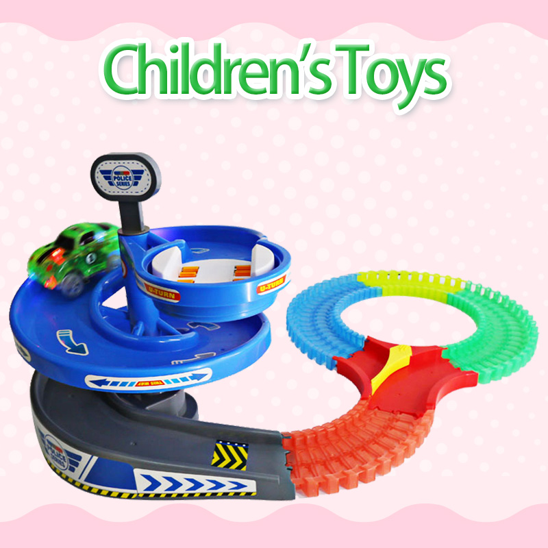 Magical Track Miraculous Glowing Race DIY track Accessories Educational Toy Cars Childrens Toys For Boys Gifts