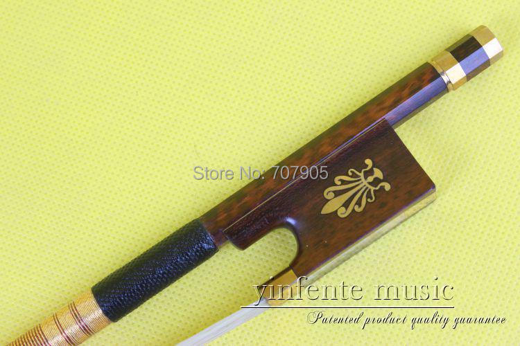 ФОТО 4/4 Violin Bow  Snake Wood Fast Action Straight Top Horse Hair Silver String