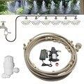 Белый фильтр для воды и Электрический водяной насос запотевание распылитель система тумана распылитель для цветов растений теплицы орошен...