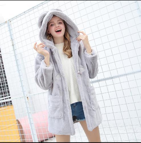 Fausse Faux De Z238 Veste D'hiver En Femme La Artificielle Chaud Outwear Femmes Manteau Taille Fourrure Plus 2018 Nouveau wqnXEZT1W