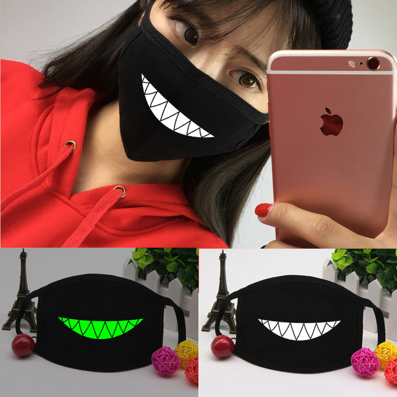 12 Patterns Luminous Dustproof Mouth Face Mask Unisex Korean Style Kpop Cycling Anti-Dust Cotton Facial Protective Cover Masks