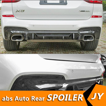 For BMW X3 Body kit spoiler 2019-2020 BMW X3 G01 ABS Rear lip rear spoiler front Bumper Diffuser Bumpers Protector