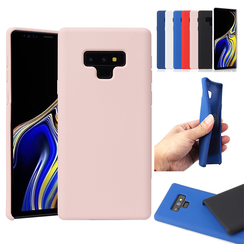 Soft Original Style SiliconE Protect Case For Samsung Note 9 8 S9 S8 S7 Plus J4 J6 A6 J7 J8 A7 2018 A9 2019 Etui Official Cover