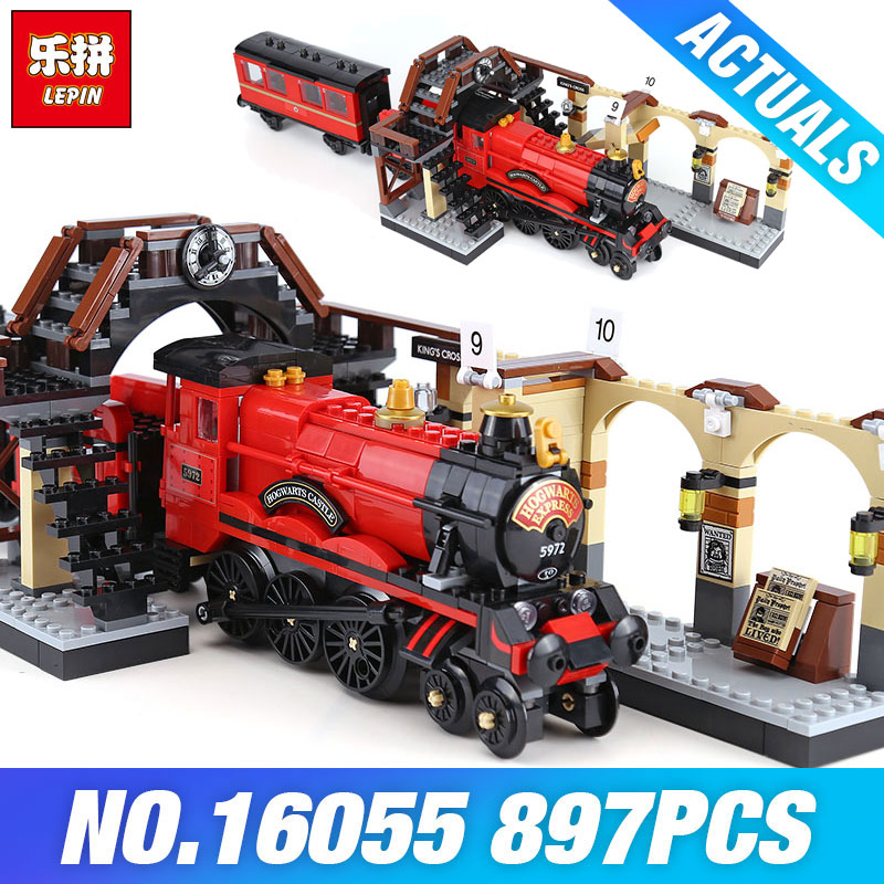 Lepin 16055 Harry Movie Potter The 75955 Hogwarts Express Set Train Model Toys Building Blocks Bricks Birthday Christmas Gifts