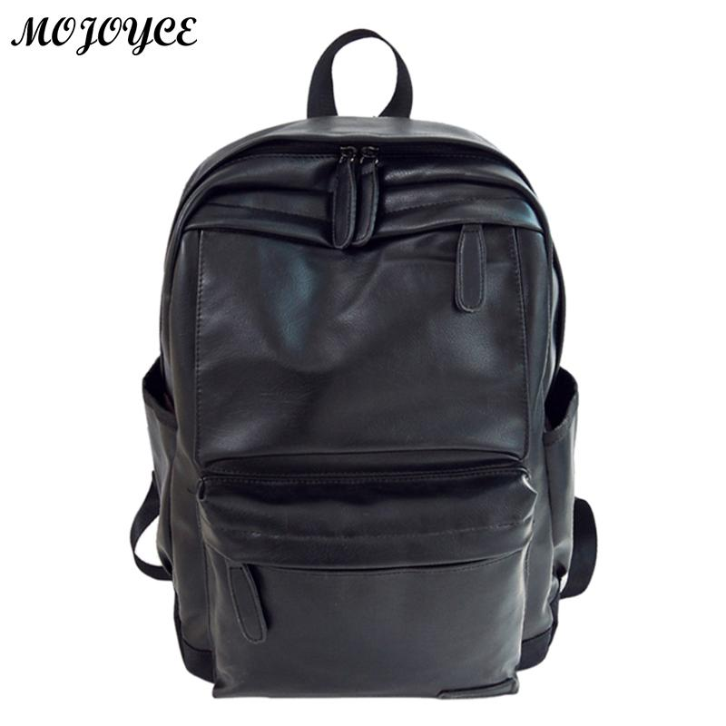Famous Brand Preppy Style PU Leather Backpack Schoolbag for Women/Men College Simple Design Casual Daypacks Mochila Male New ...