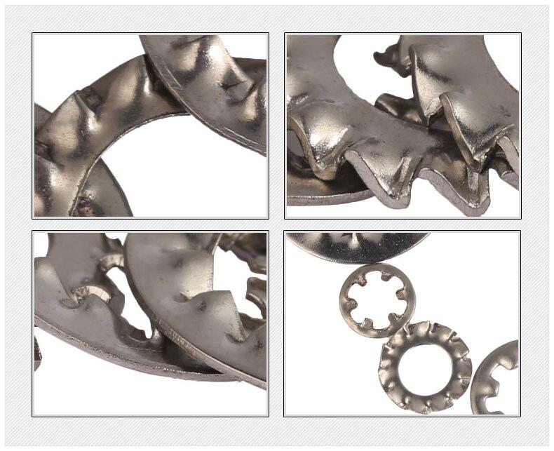 Dente Interni Esterni Seghettato Rondelle Di Bloccaggio Rondella in acciaio inox SHAKEPROOF