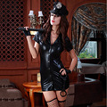 7 Pcs Halloween Women Cosplay Costumes Sexy Police Lady Role Playing Short Dress Slim Tight Exotic Policewoman Uniform Clothes