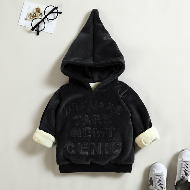 Baby Girls Boys Outwear Thickening Hooded Cotton Children Infant T Shirt Sweatshirt Baby Boys Sweater Baby Boys Clothes