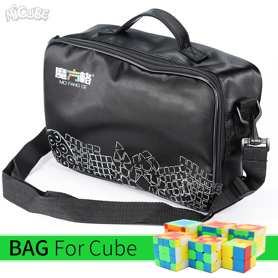 Qiyi Mofangge Cube Bag Black Shoulder Bags Magic Cubes Puzzle Handbag 2x2 3x3 4x4 5x5 6x6 7x7 8x8 9x9