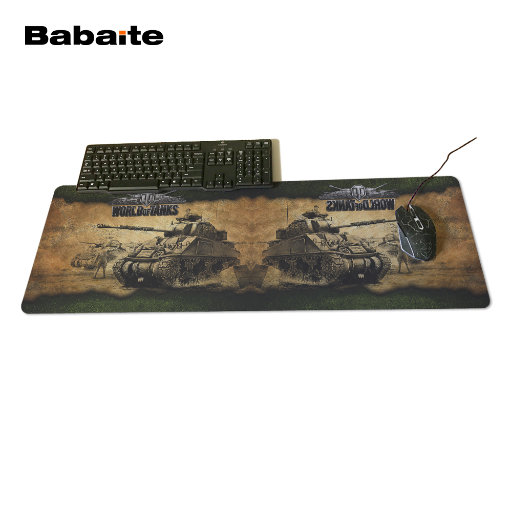 Babaite New Arrival Large Locking Edge Rubber World of tanks Mice Mat Computer Notebook Professional Gaming Optical Mice Mats ...