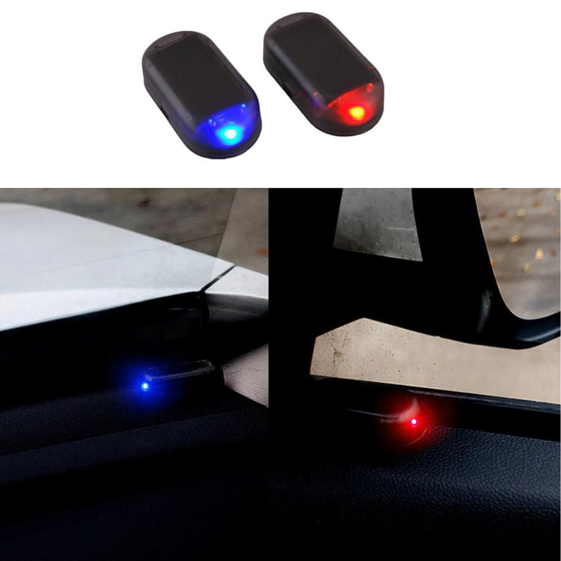 Car Fake Security Light Solar Powered Simulated Dummy Alarm Wireless Warning Anti-Theft Caution Lamp LED Flashing Imitation