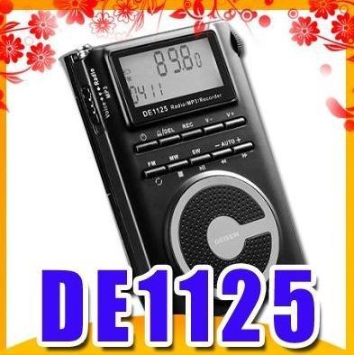 Envío libre DEGEN de 1125 FM MW SW DSP Grabador Portátil de Radio al por mayor