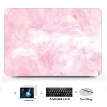 4in1 Marble Pattern Laptop Hard Shell Case Keyboard Cover Skin Set Pouch For Macbook Air Pro Retina Touch Bar 11 12 13 15 inch