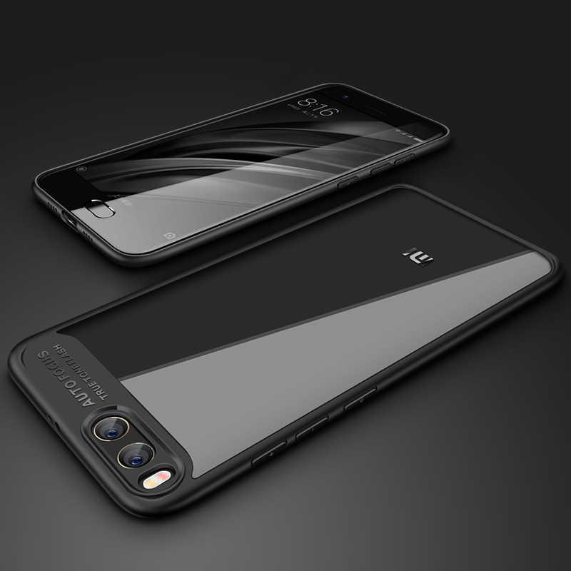 Xiaomi mi6 чехол для xiaomi 6 Чехол прозрачный задний силиконовый PC + TPU Чехлы оригинальные mofil xiaomi mi 6 Чехол синий аксессуары