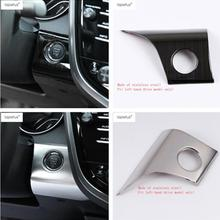 Lapetus Accessories Fit For Toyota Camry XV70 2018 2019 Start Stop Engine Push Button Frame Key Molding Cover Trim / 2 Colors