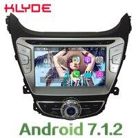 KLYDE 8 ''4 ядра Android 2 ГБ Оперативная память мультимедиа dvd плеер автомобиля Радио Стерео gps Navi для hyundai Elantra I35 2014 2015 4G DAB
