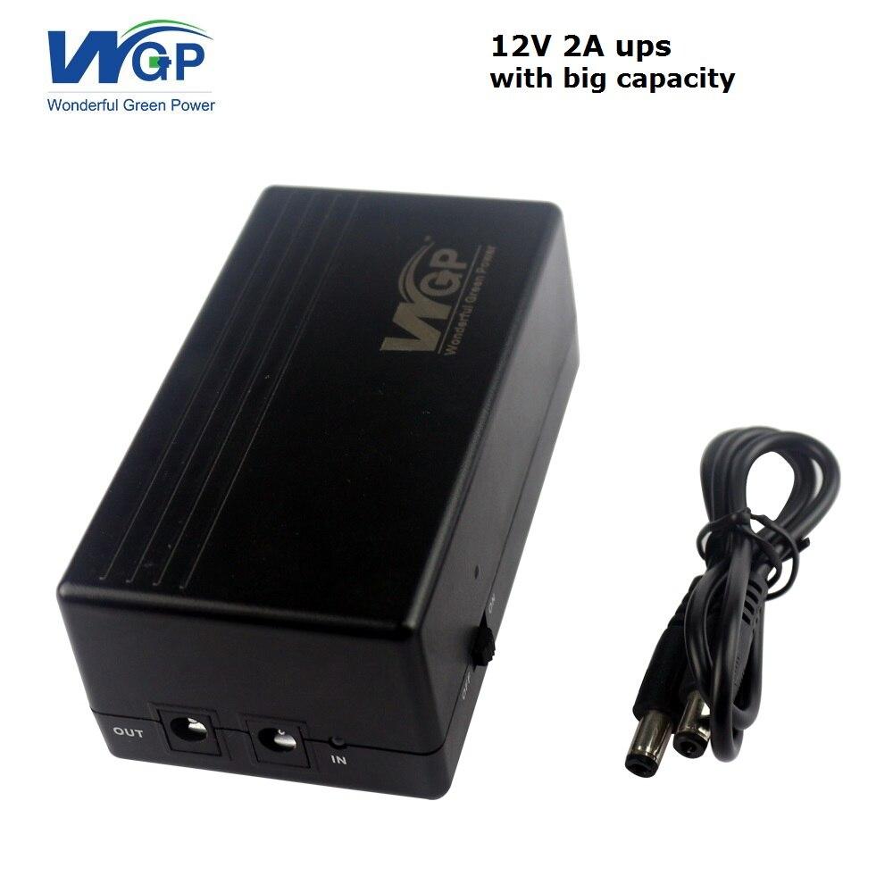 Nuovi prodotti corto circuito di protezione 6000 mah uninterruptible power supply 12 volt mini ups con batteria agli ioni di litio integrato