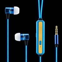 10pcs Hot Sale Led Earphones Luminous LED Lights Sport Stereo In Ear Glow Led Headphones Earbud