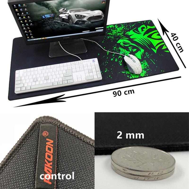 Большой игровой коврик для мыши с зеленым принтом, Противоскользящий коврик для мыши из натурального каучука, коврик для клавиатуры, Настольный коврик для ноутбука, компьютера, геймера, коврик для мыши - Цвет: control40x90cm