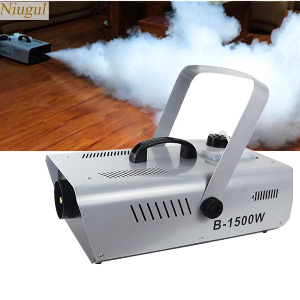 Professional 1500W Stage Fog Machine With RGB LED Light/Fogger Equipment For DJ Disco Bar/DMX512 Pyro Vertical LED Smoke Machine