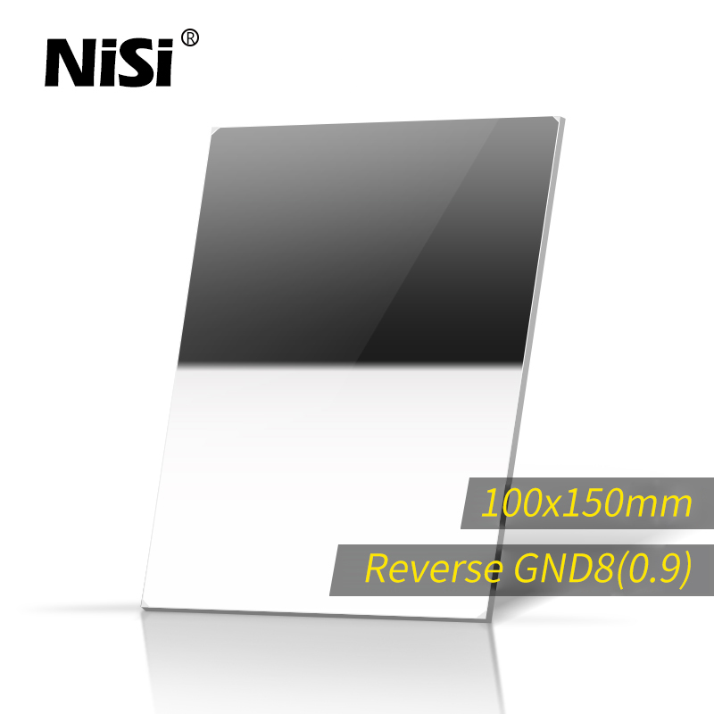 NISI Reverse GND8 100*150mm Square Filter Optical Glass Nano IR GND8 Reverse Gradual Neutral Density Filter цена