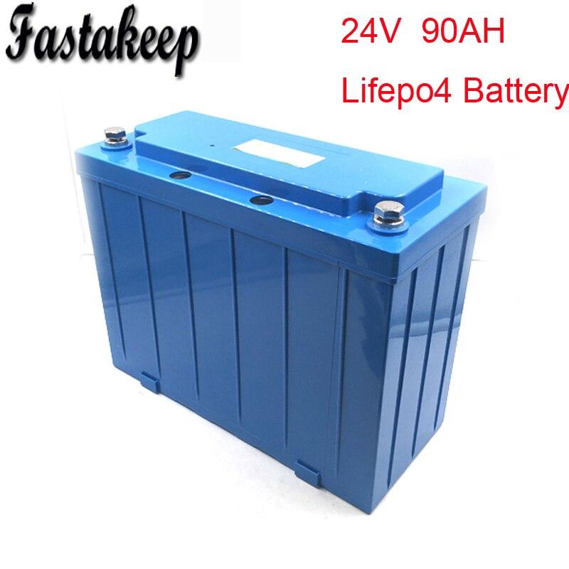 Перезаряжаемые глубокий clyle Аккумулятор lifepo4 аккумулятор 24 В 90Ah для хранения солнечной энергии, UPS, гольфа, ebike, EV автомобиля