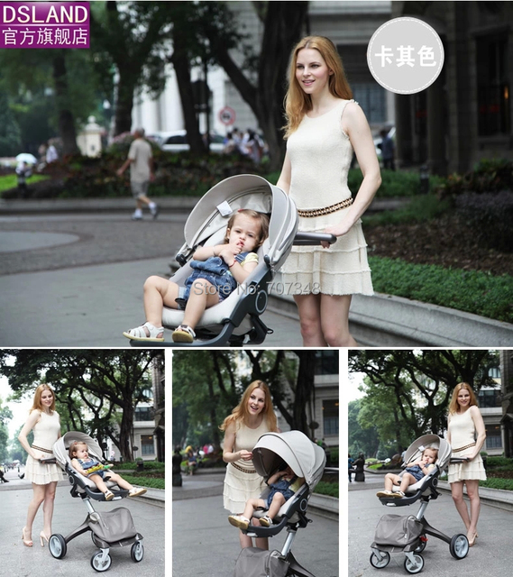 Dsland Pram Dsland Baby Stroller aluminum Alloy two-way Child Baby Stroller  Cheap Fast Delivery