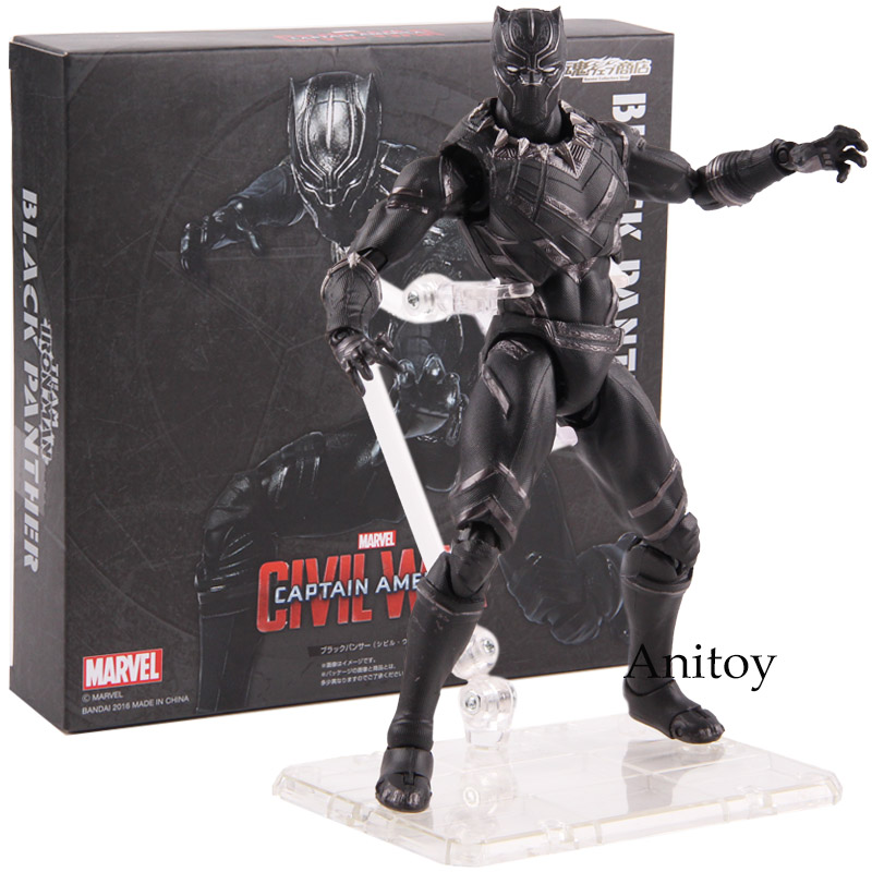 Hot Toys Captain America Civil War Black Panther Marvel Toys PVC Marvel Legends Action Figure Collectible Model Toy 16cm image
