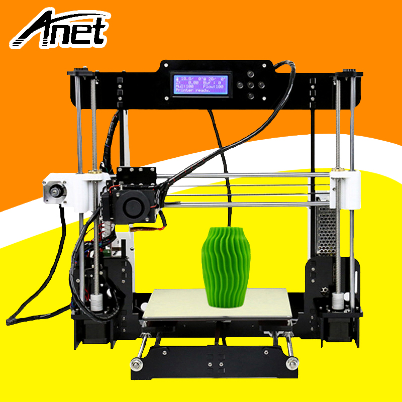 ANET A8 3d printer Reprap Prusa i3 precision 2 Kit DIY Easy Assemble DIY Kit+Hotbed LCD Screen 8GB SD Card Send From Moscow additional soplo nozzle 3d printer kit new prusa i3 reprap anet a6 a8 sd card pla plastic as gifts express shipping from moscow
